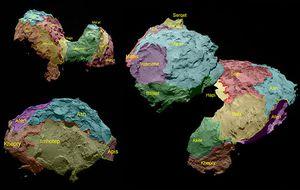 Rosetta retrata al cometa: una roca porosa con forma de patito