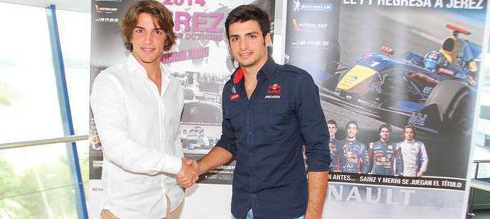 Foto: Merhi y Sainz Jr en la presentación del certamen de Jerez