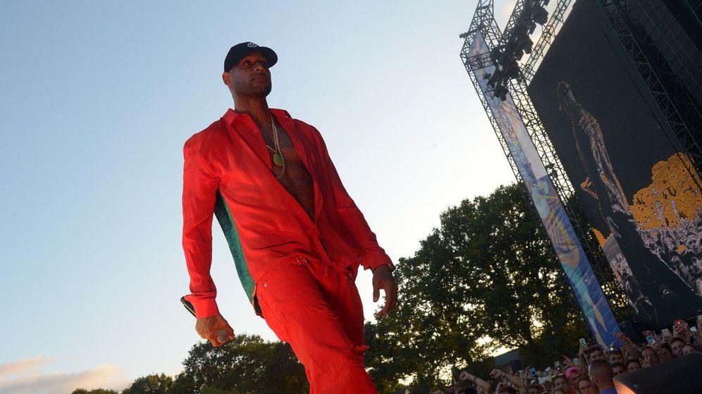 Foto: El rapero Booba en una actuación en Francia. (Efe)
