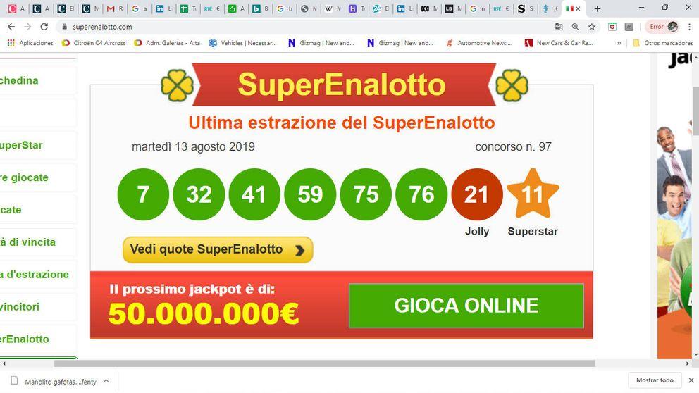 Gana 209 millones en la lotería invirtiendo solo dos euros en un boleto
