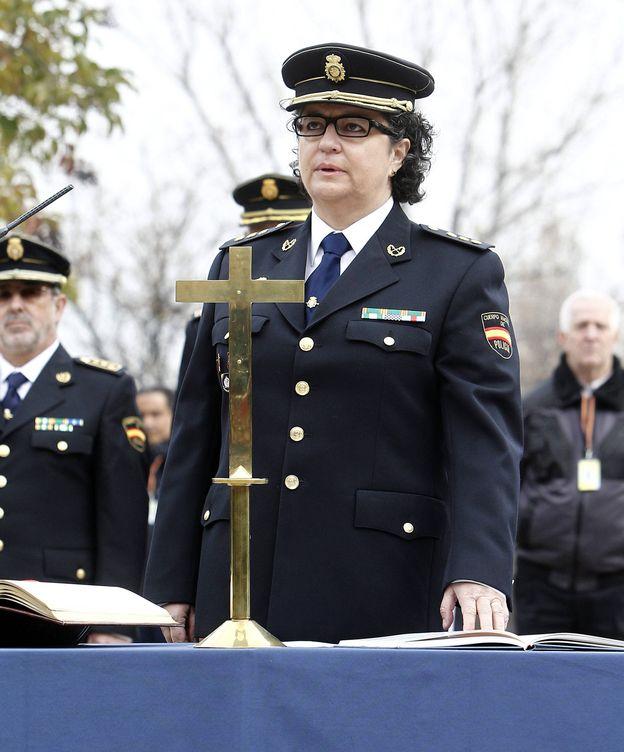 Foto: Pilar Allúe, durante su toma de posesión como comisaria general de Policía Científica el 13 de enero de 2012. (EFE)