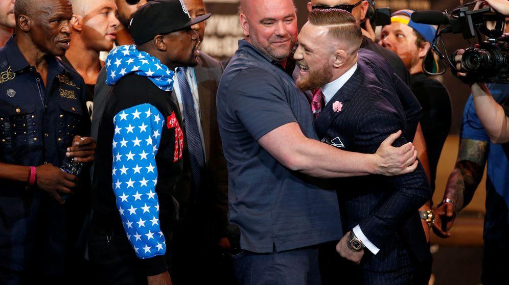 Foto: El cacareo de Mayweather y McGregor en su primer cara a cara