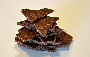 Onzas de chocolate con caramelo crujiente