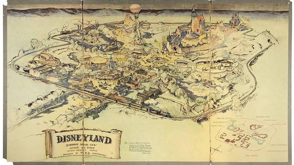 El primer mapa de Disneyland, a subasta por casi un millón de dólares