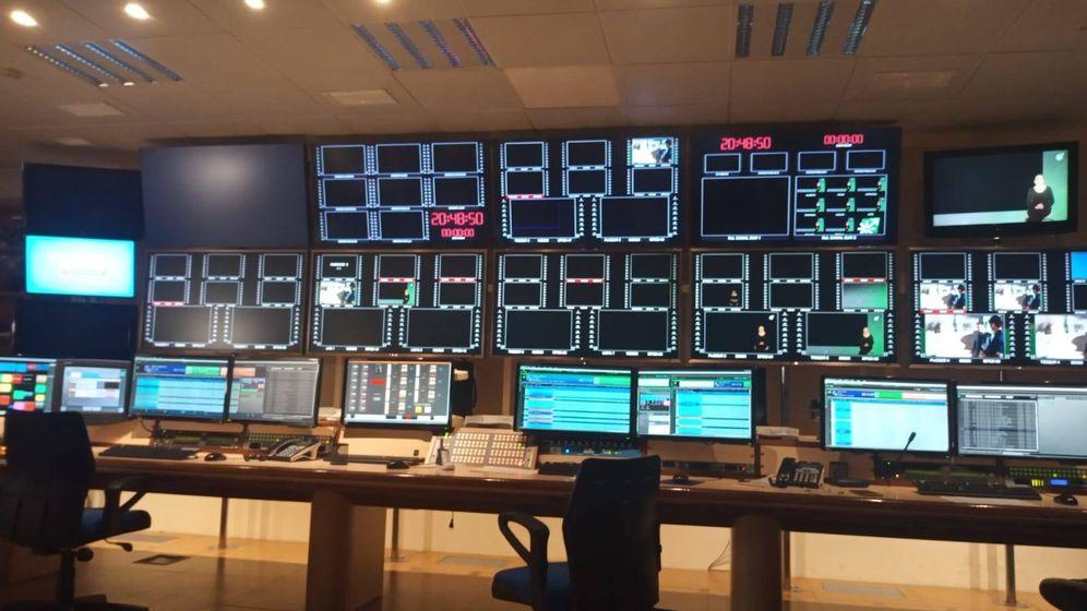 Foto: Imagen de la emisión en negro del pasado jueves por la noche en la RTVA