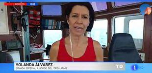 Post de Una reportera de TVE acelera su conexión por temor a una avispa