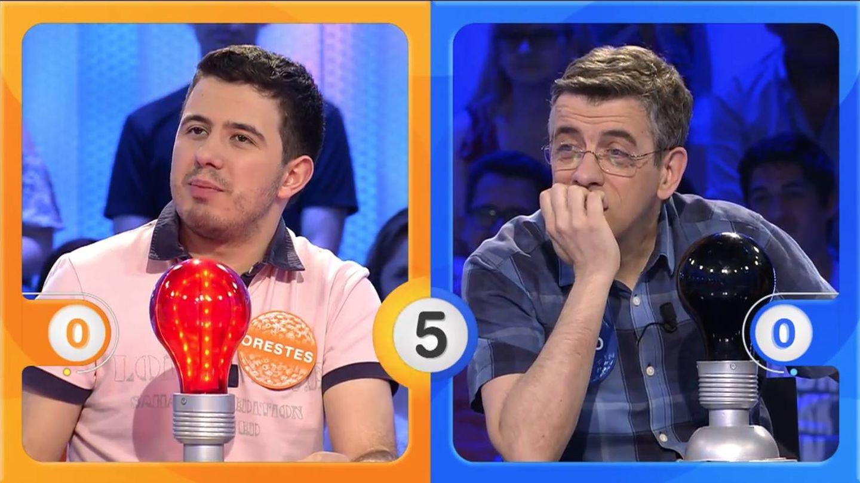 Orestes, contra Jero en 'Pasapalabra'. (Mediaset)