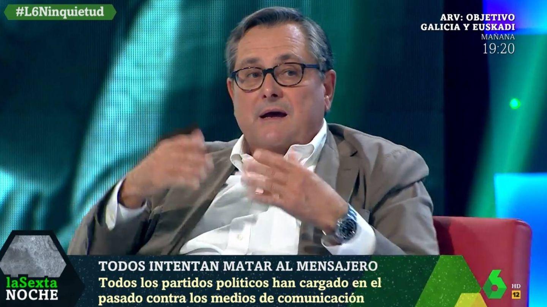 Marhuenda opinando sobre Iglesias. (La Sexta).