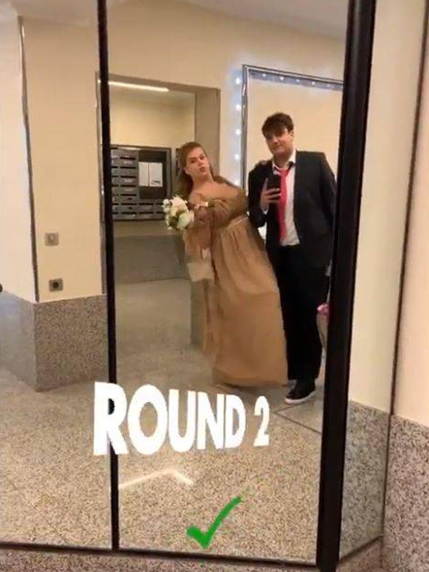 Camille Gottlieb y su novio, preparados para la boda. (@medyanthony)
