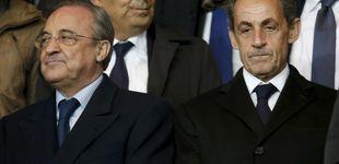 Post de El desconsuelo de Florentino Pérez en el palco de París con su amigo Sarkozy