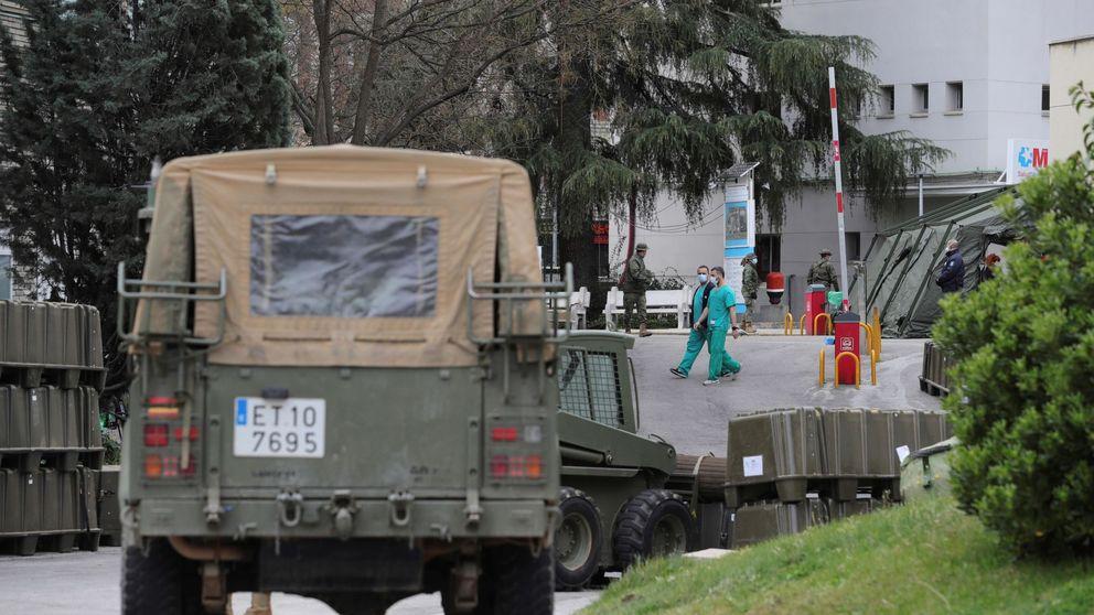 El Ejército instala carpas en el Gregorio Marañón con capacidad para 100 pacientes