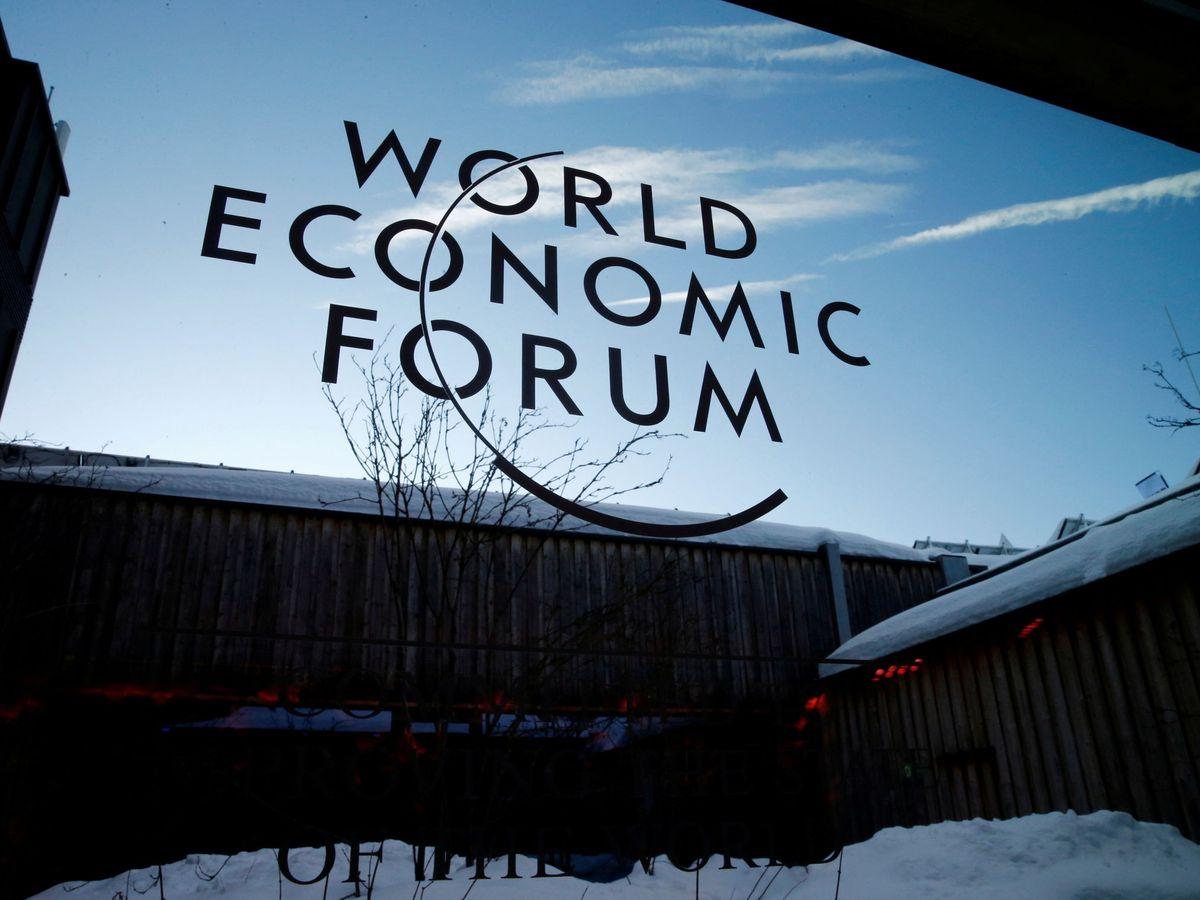 Foto: El logo del WEF. (Reuters)