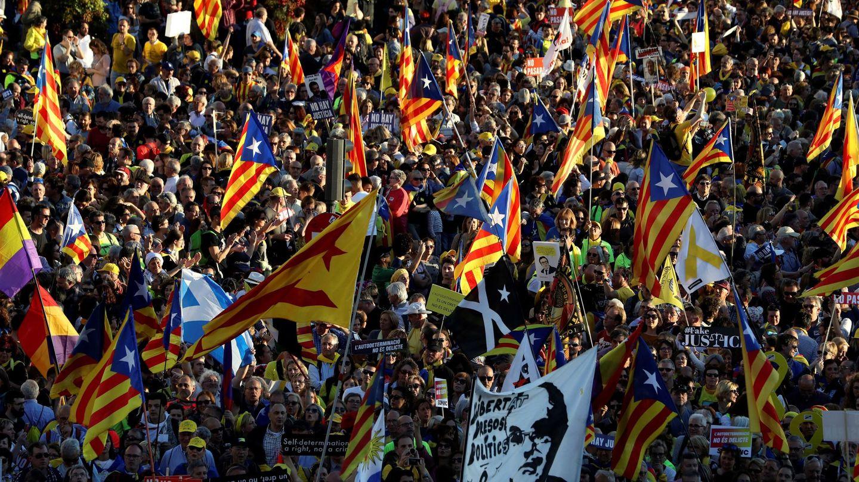 Imagen de la manifestación de este sábado en Madrid. (EFE)