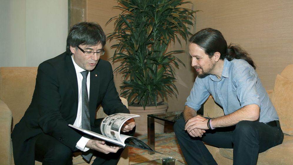Foto: El presidente de la generalitat recibe al lider de podemos