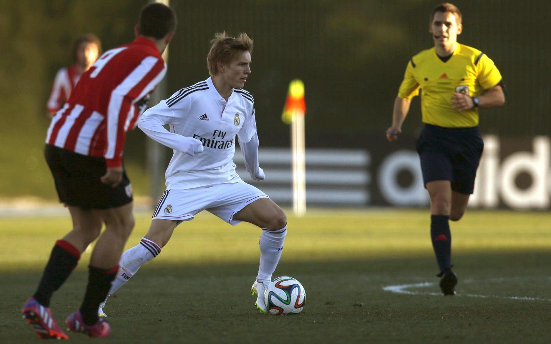 Foto: Martin Odegaard, en su debut con el Real Madrid Castilla (EFE)