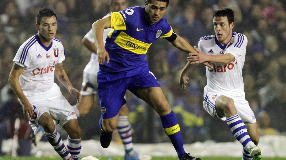 Foto: Juan Román Riquelme, en un partido con Boca Juniors. (EFE)