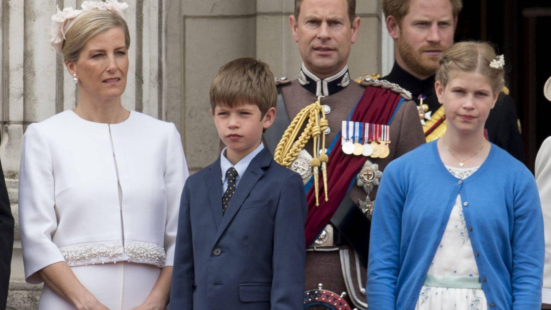La familia de los condes de Wessex, en el Trooping the Colour de 2016. (Gtres)