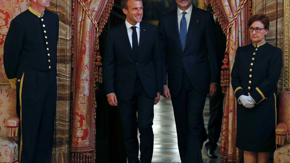 Foto: Felipe VI y Macron. (Reuters)