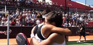Post de El abrazo de las Martas en el Swedish Padel Open