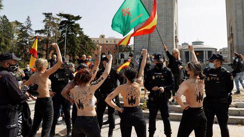 Franquistas y activistas se enfrentan en un acto en recuerdo de la toma de Madrid por Franco