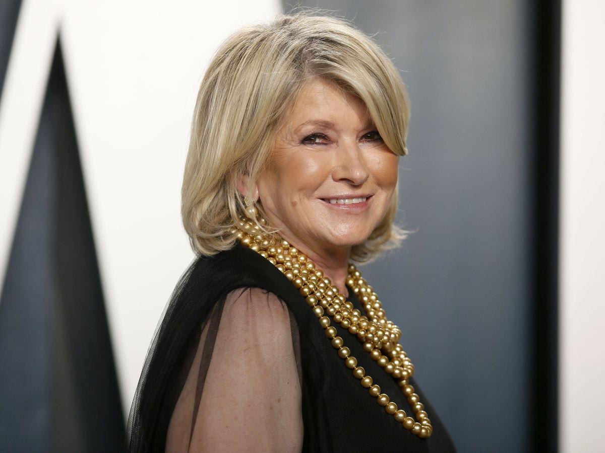 Foto: Martha Stewart en la fiesta post Oscar de Vanity Fair de 2020. (Reuters)