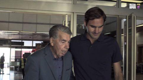 La tradición de Manolo Santana con Federer cada vez que el suizo juega en Madrid