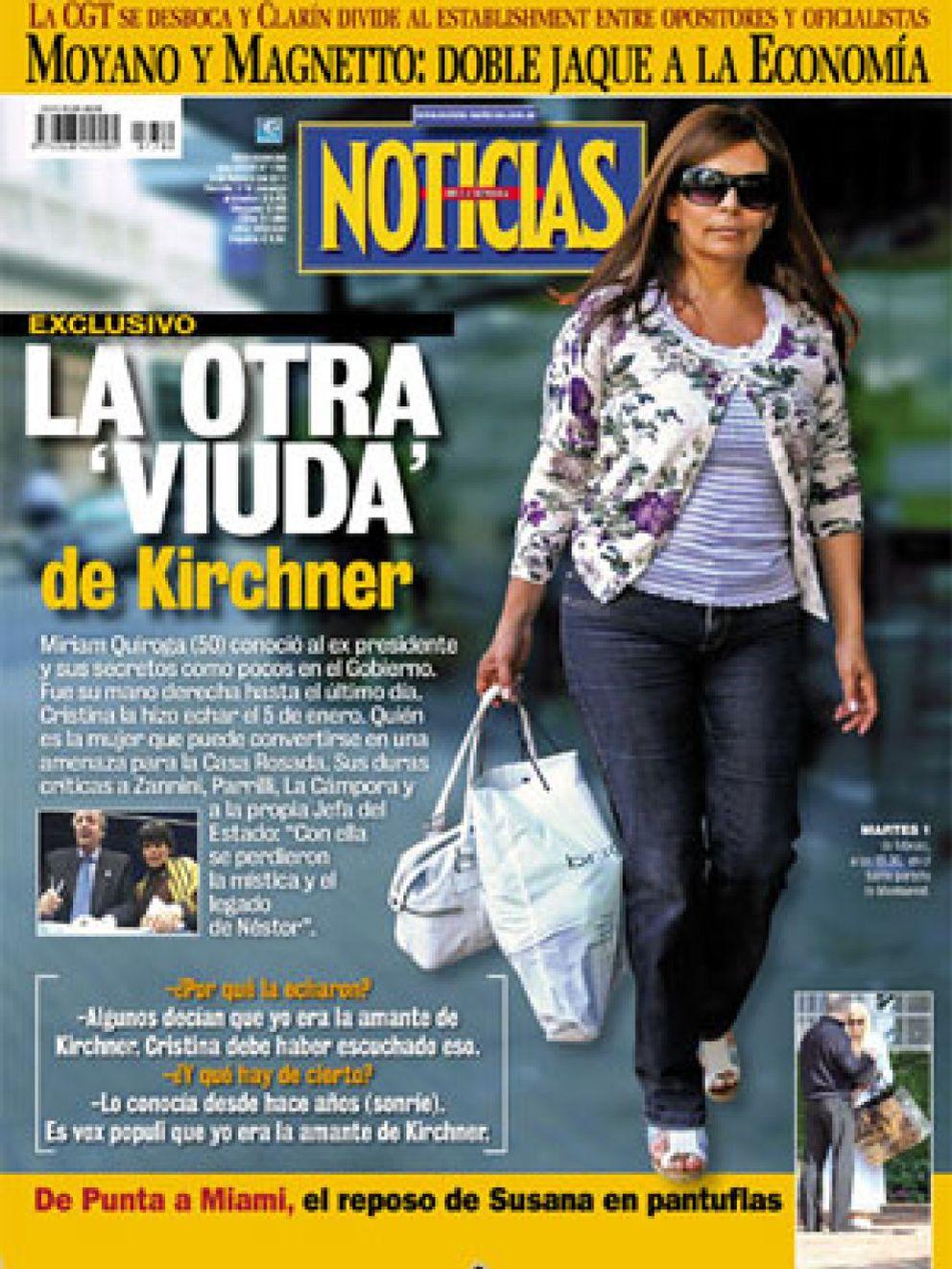 La otra viuda de n stor kirchner la secretaria del ex for Revistas del espectaculo argentino