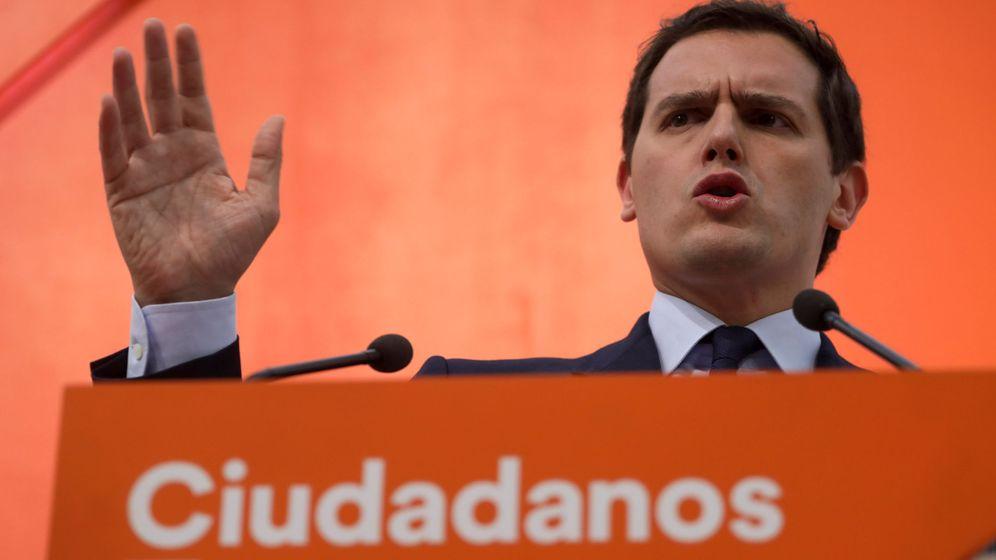 Foto: El líder de Ciudadanos, Albert Rivera, en la sede de su partido. (Reuters)