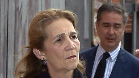 El rey Felipe y la infanta Elena, en el funeral de Alfonso Moreno de Borbón