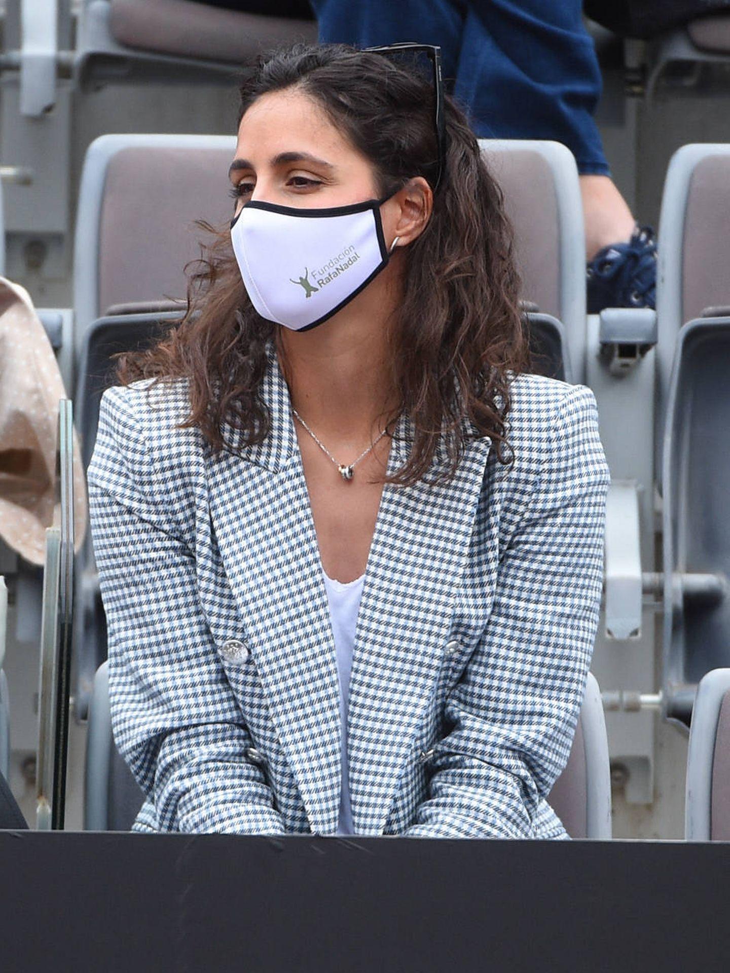 Mery Perelló y su chaqueta de cuadros vichy. (Gtres)