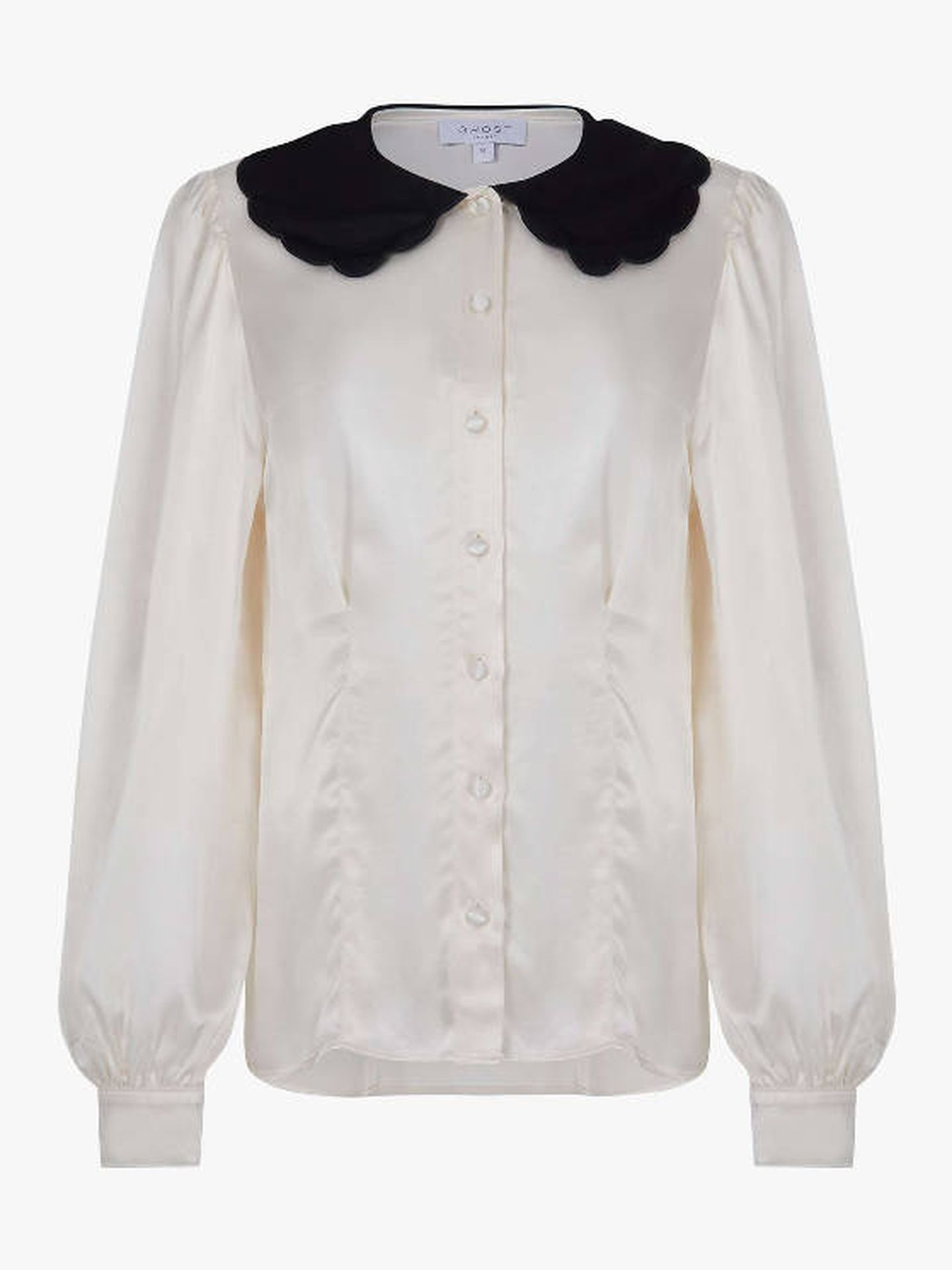 La camisa de Ghost London que luce Kate. (Cortesía)