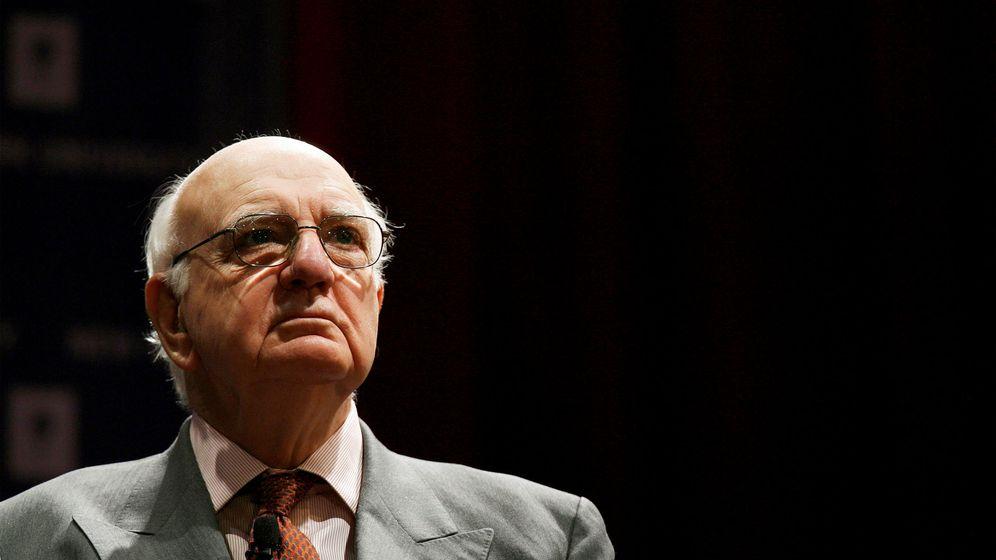 Foto: El expresidente de la Fed Paul Volcker, en una conferencia en Nueva York. (Reuters)