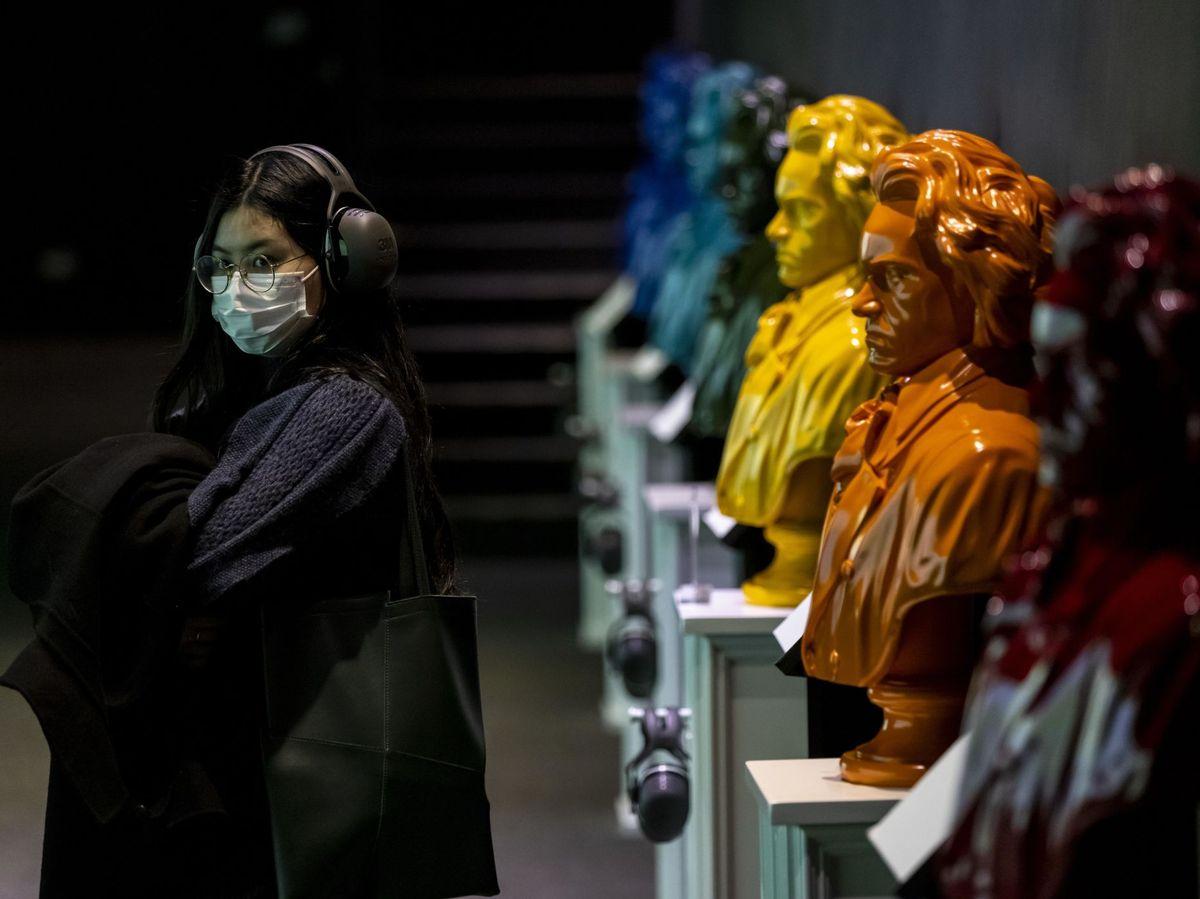 Foto: Instalación artística sobre Beethoven. (EFE)