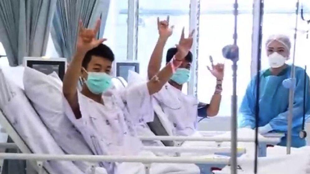 Foto: Felices y sonrientes: así se recuperan en el hospital los niños de Tailandia