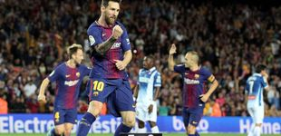 Post de La 'firma' de Leo Messi nunca falla en césped, el Barcelona se lleva el derbi