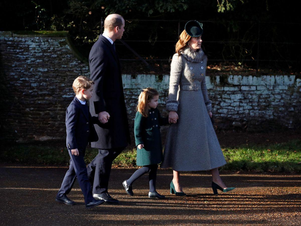 Foto: Guillermo y Kate, con George y Carlota. (Reuters)