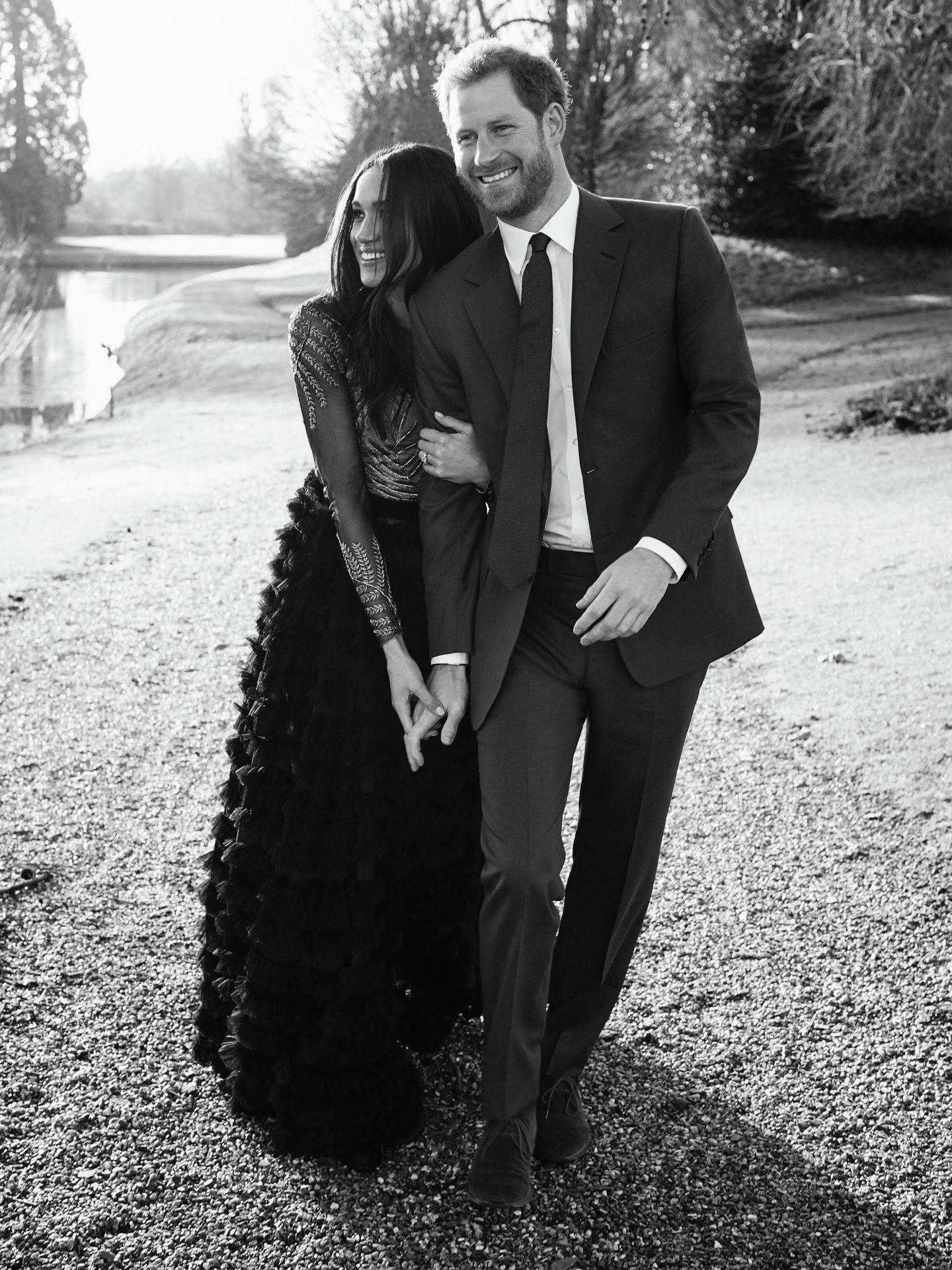 Imagen del compromiso del príncipe Harry y Meghan Markle. (Gtresonline)