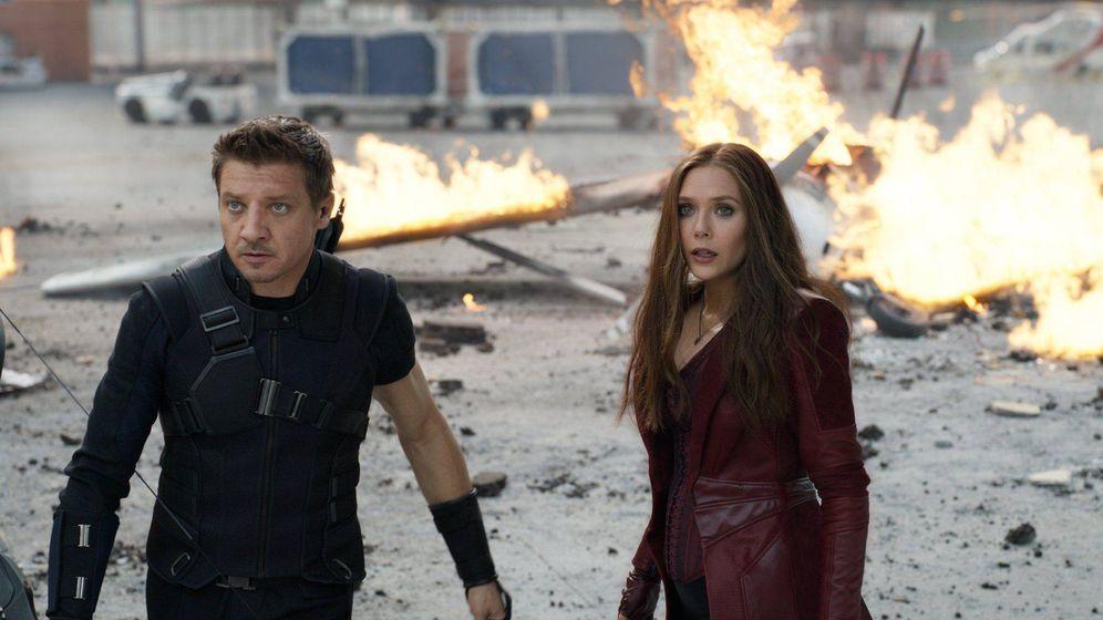 Foto: Jeremy Renner y Elisabeth Olsen. (Marvel Studios)