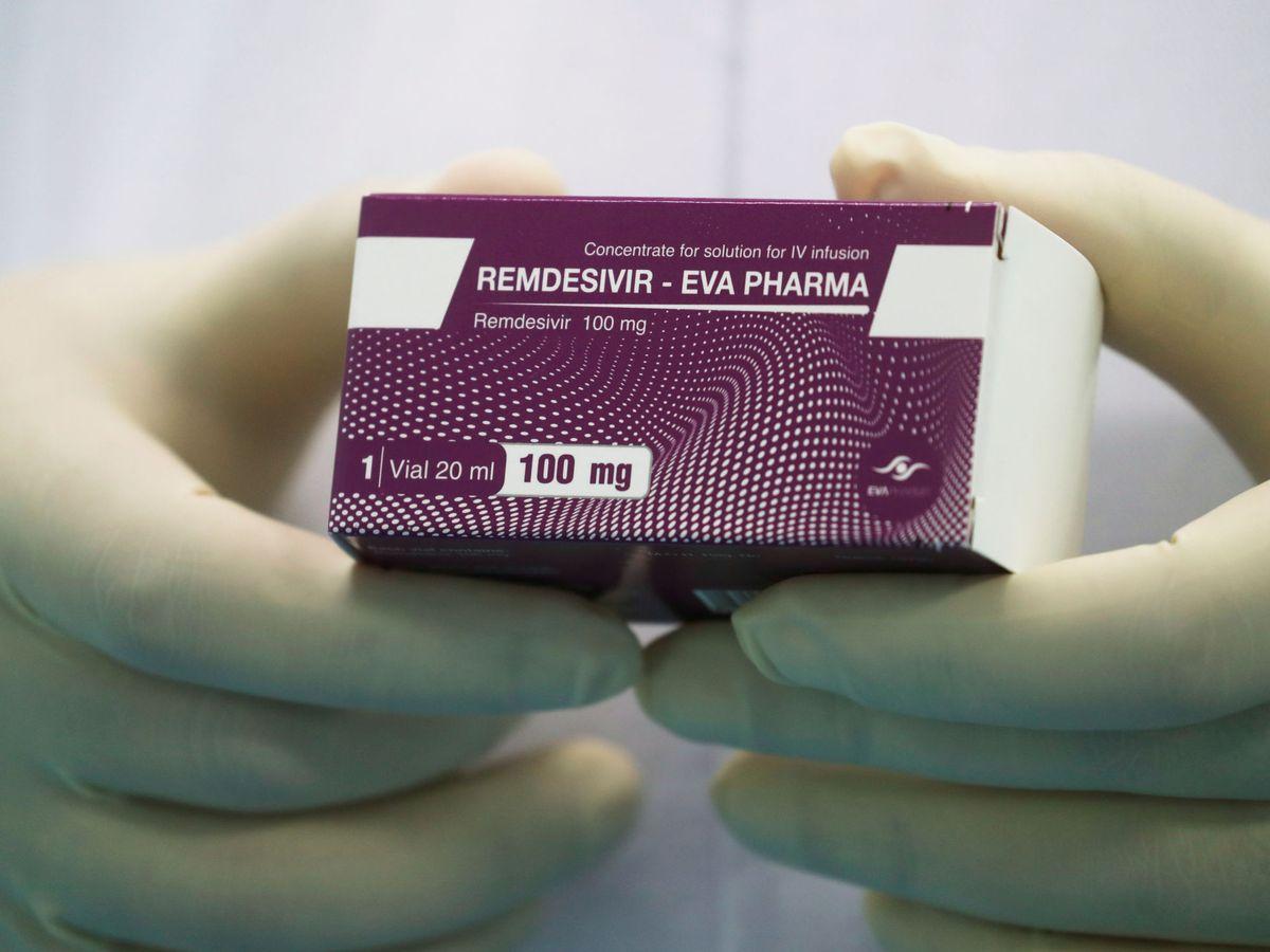 Foto: Una caja de remdesivir, comercializado en Egipto por la farmacéutica Eva Pharma. (Reuters)