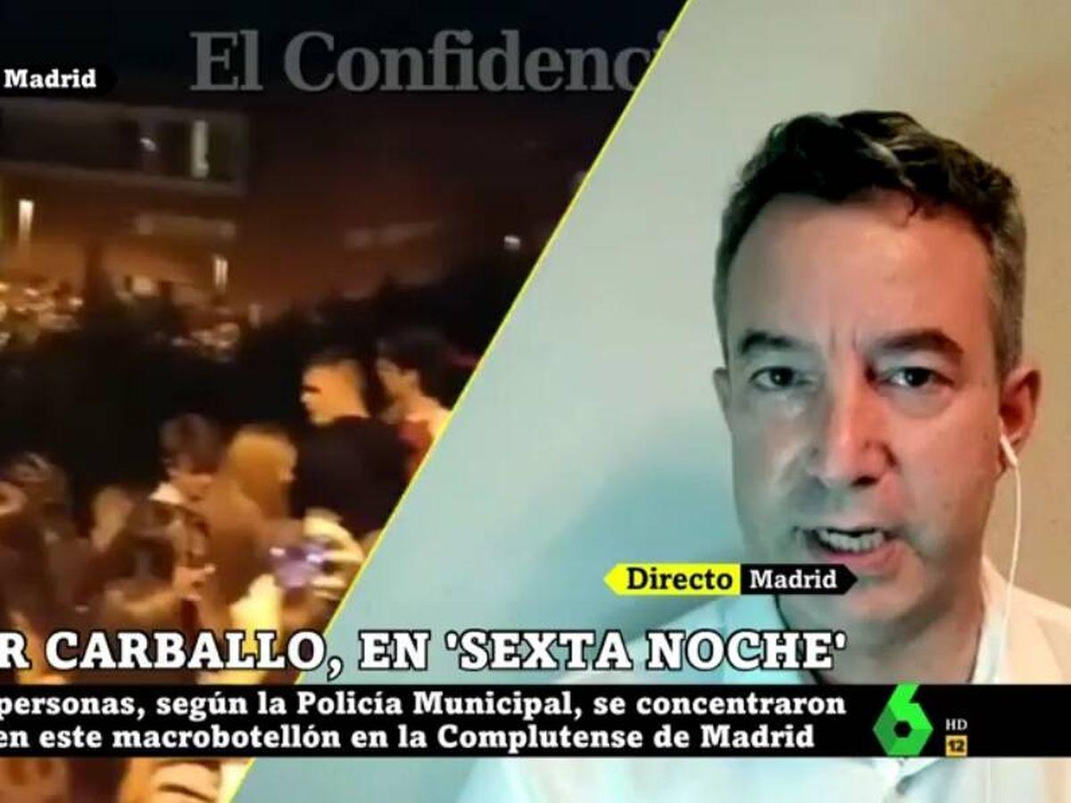 Foto: Carballo, en 'La Sexta noche'. (Atresmedia).