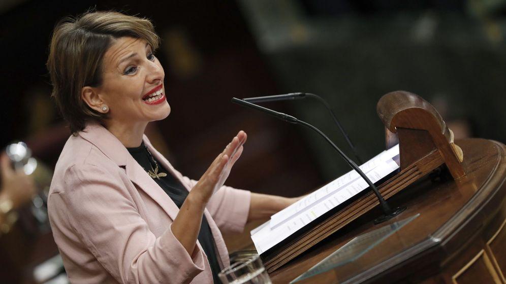 Foto: Yolanda Díaz, en el Congreso (EFE)