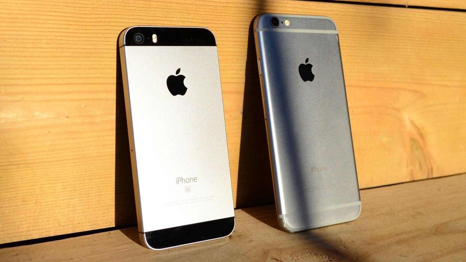 Foto: El iPhone SE (izquierda) junto al iPhone 6s. (Foto: P.O.)