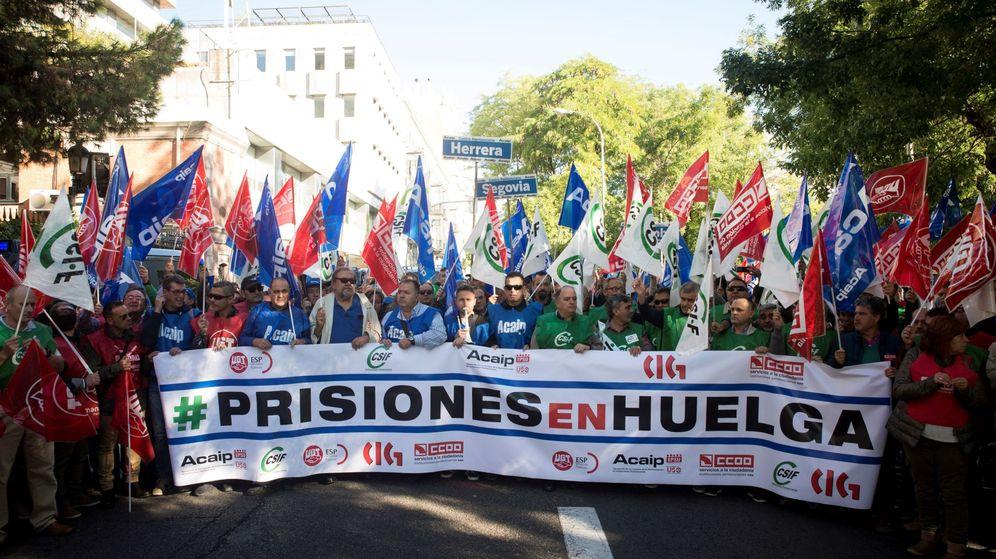 Foto: Protestas de funcionarios de prisiones en Madrid.