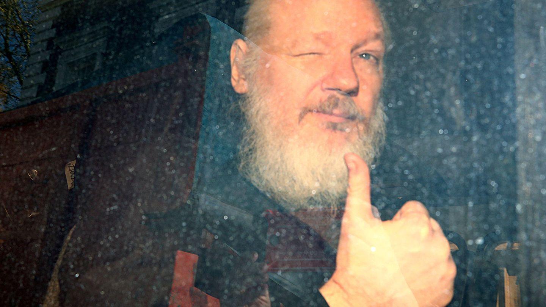 Julian Assange en abril de 2019, tras su arresto. (Reuters)