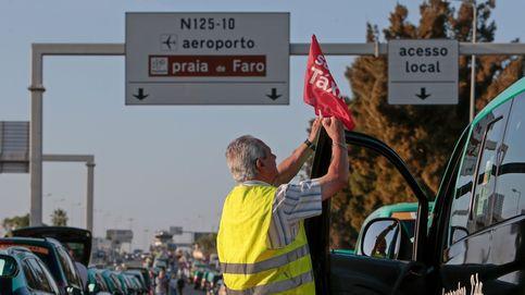 Taxistas en huelga en Portugal