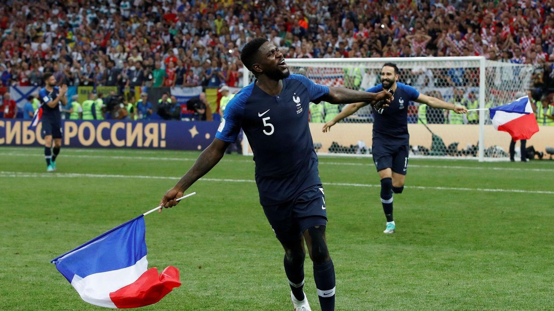 Umtiti celebra el triunfo de Francia en el Mundial. (EFE)