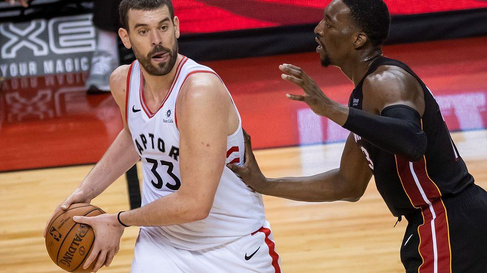 Foto: Marc Gasol en un partido con los Toronto Raptors esta temporada. (EFE)