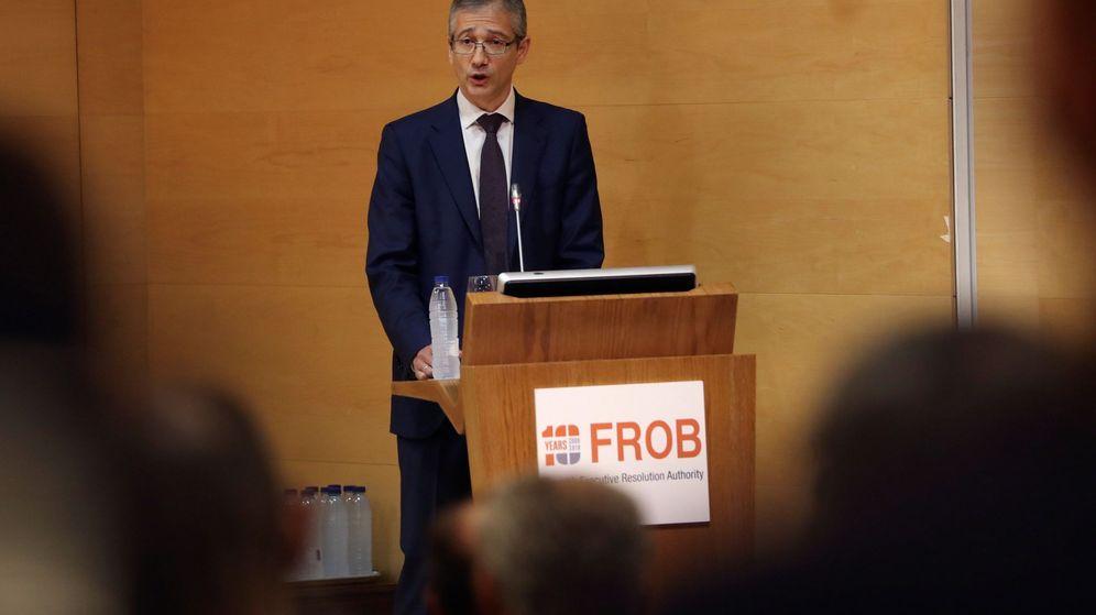 Foto: El gobernador del Banco de España, Pablo Hernández de Cos, en una intervención. (EFE)