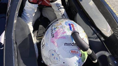 Romain Grosjean vuelve: el casco pintado por sus hijos que simboliza su nueva vida