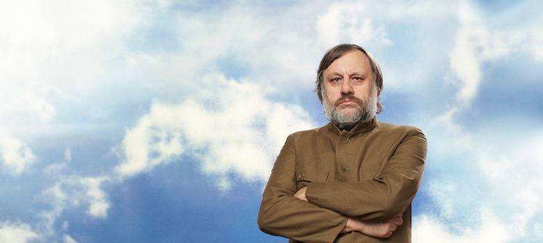Foto: Slavoj Zizek en el rodaje del filme